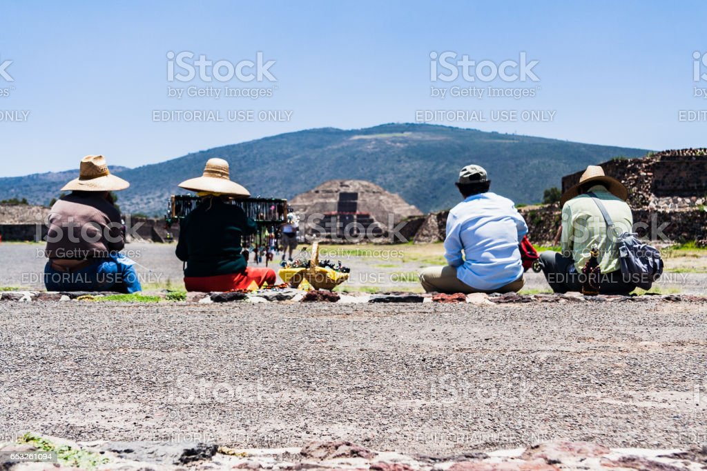 Pyramid of The Moon Teotihuacan stock photo
