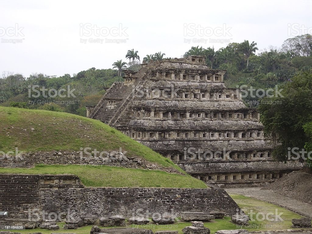 Pyramid of the niches, El Tajin, Mexico royalty-free stock photo