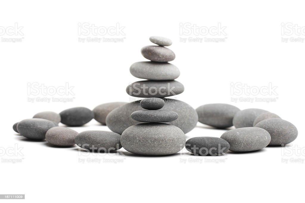 Pyramid of the stones royalty-free stock photo