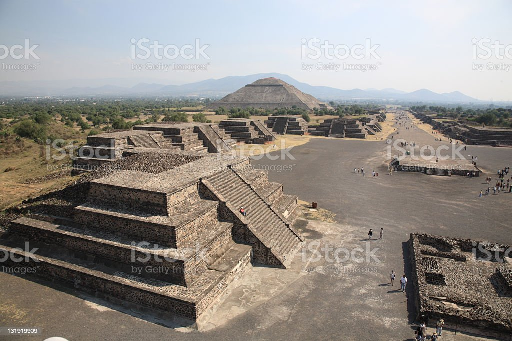Pyramid of the Sun at Teotihuacan, Mexico stock photo