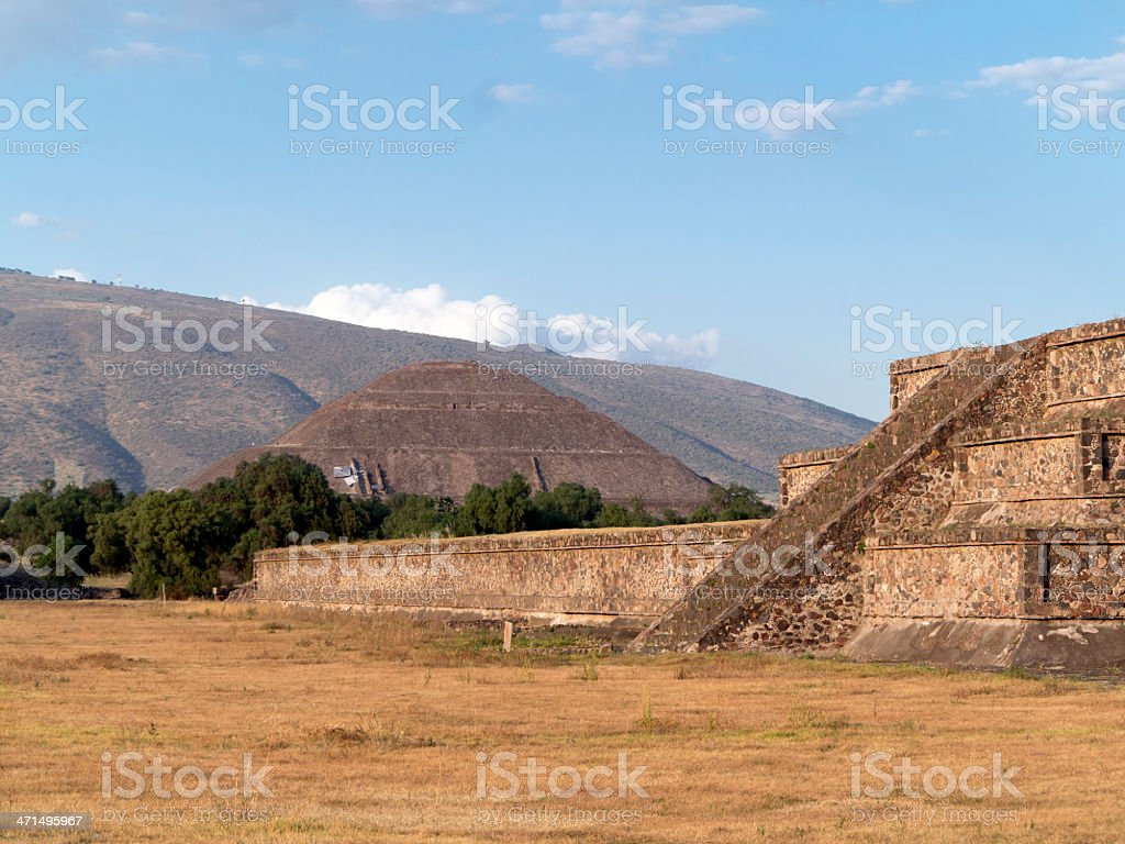 Pyramid of the Sun in Teotihuacan Mexico royalty-free stock photo