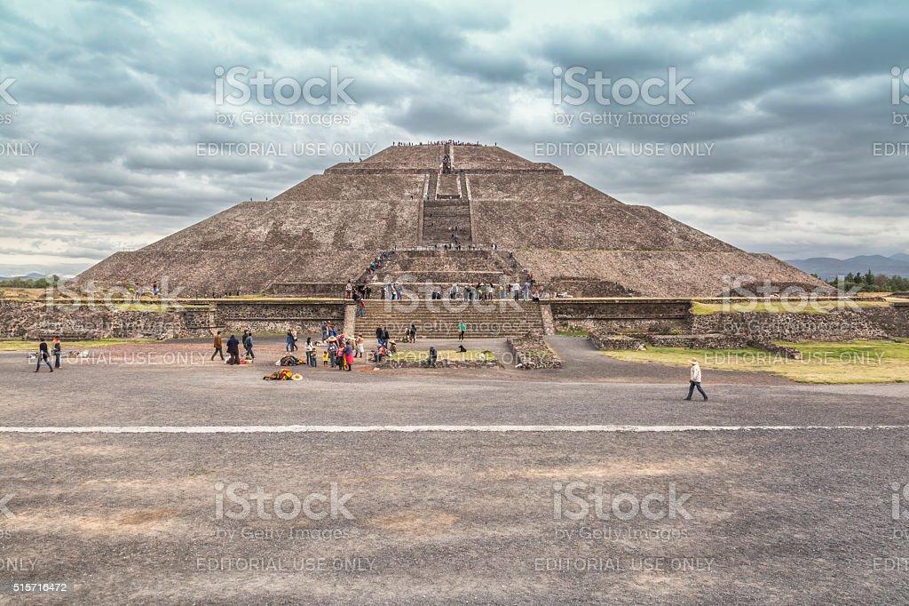 Pyramid of The Sun in Teotihuacan stock photo