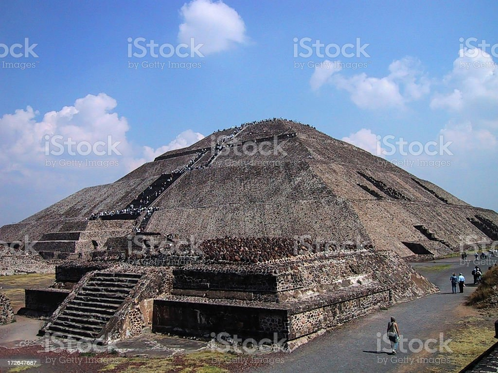 Pyramid of the Sun royalty-free stock photo