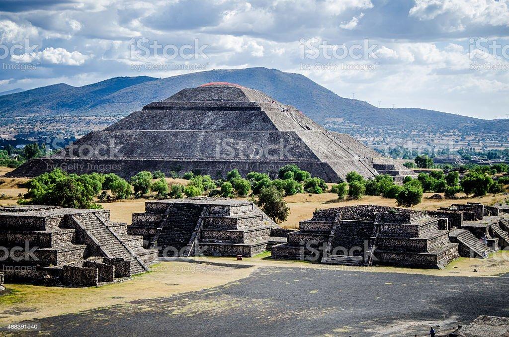 Pyramid of the sun stock photo