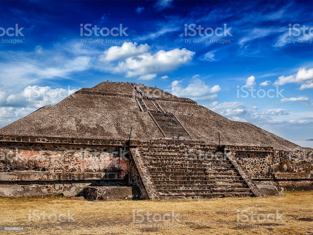 Pyramid of the Sun. Teotihuacan, Mexico stock photo