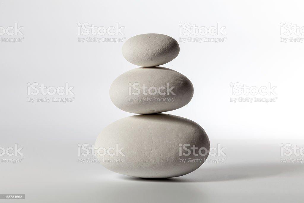 Pyramid of the three stones stock photo