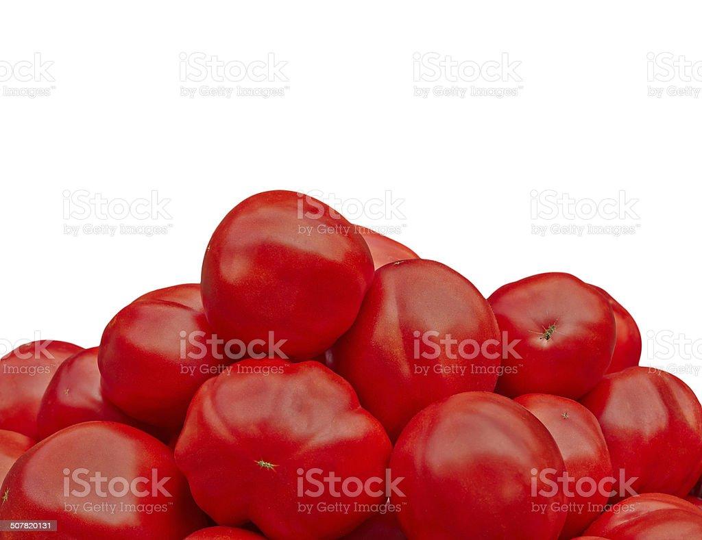 Pyramid of tomatoes royalty-free stock photo