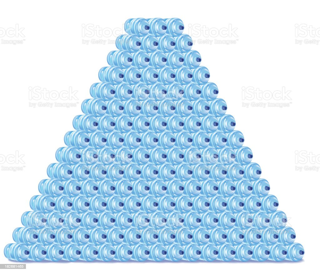 Pyramid of Water Jugs stock photo