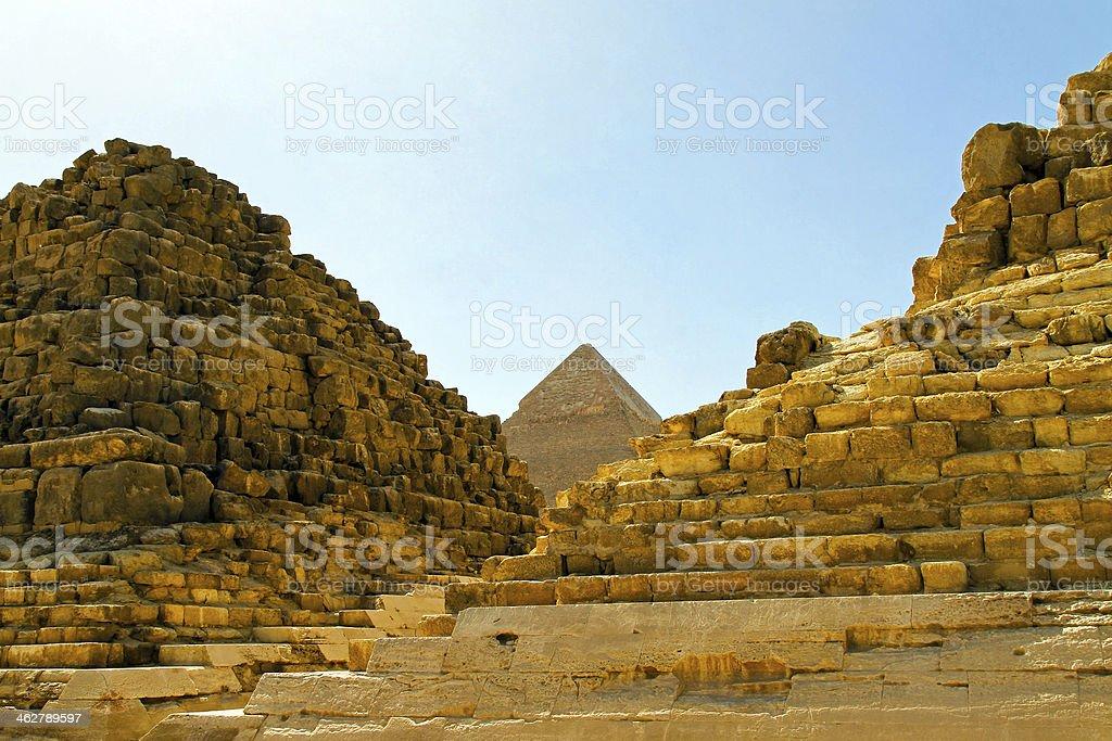 Pyramid ruins royalty-free stock photo