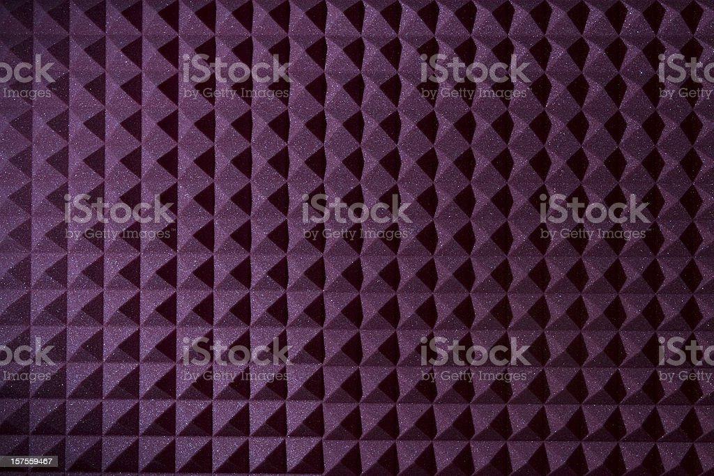 Pyramid sound recording foam background stock photo