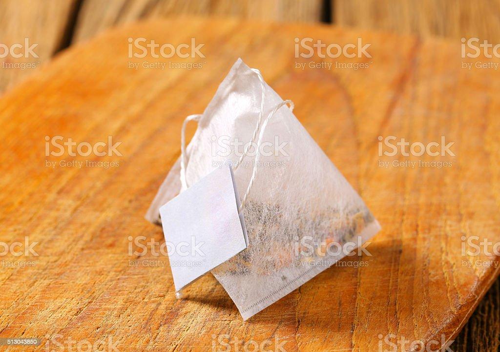 Pyramid tea bag stock photo