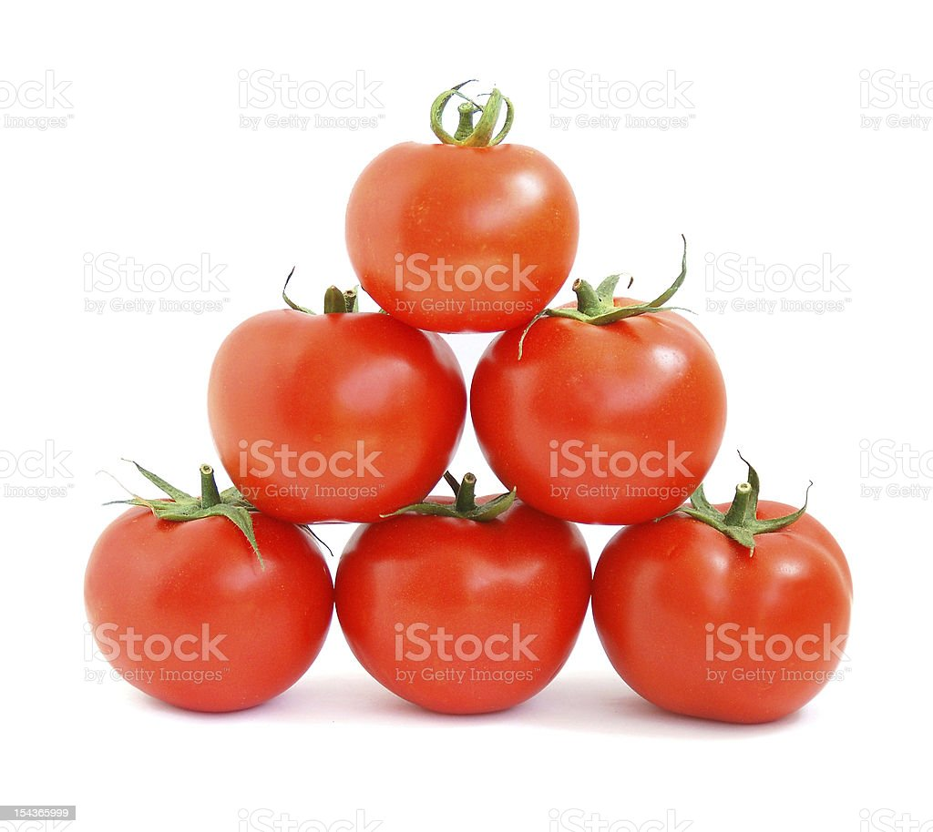 pyramid tomatoes royalty-free stock photo