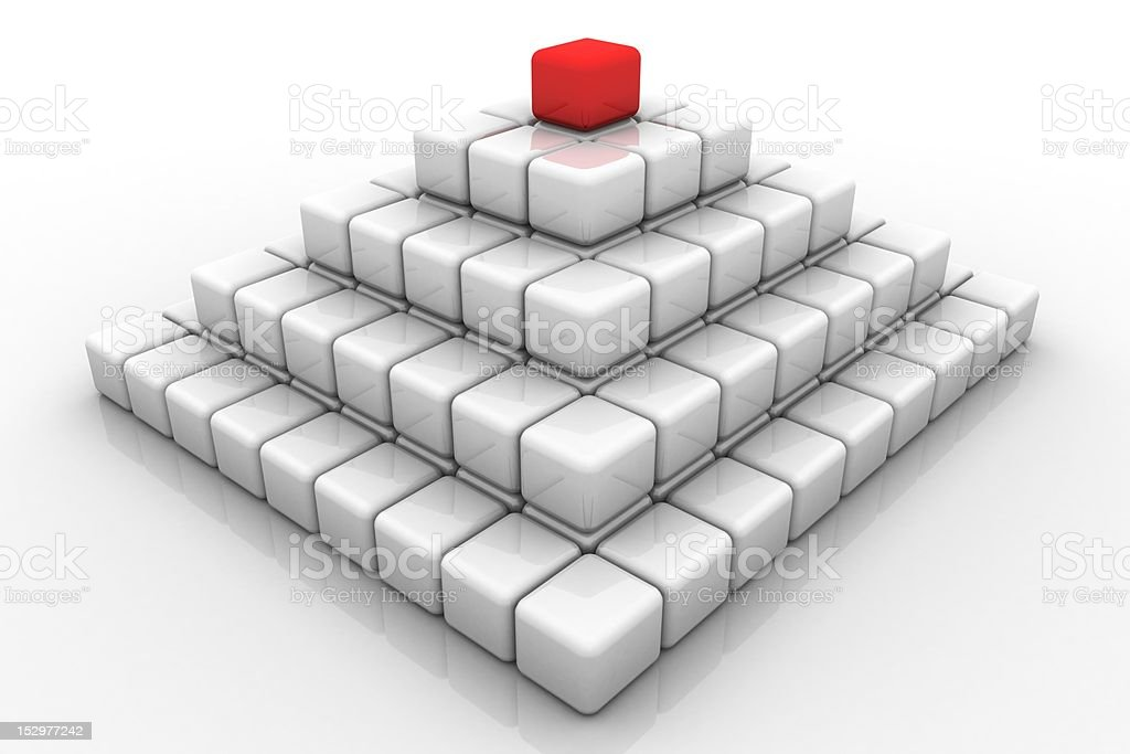 Pyramid wirh red leader. royalty-free stock photo