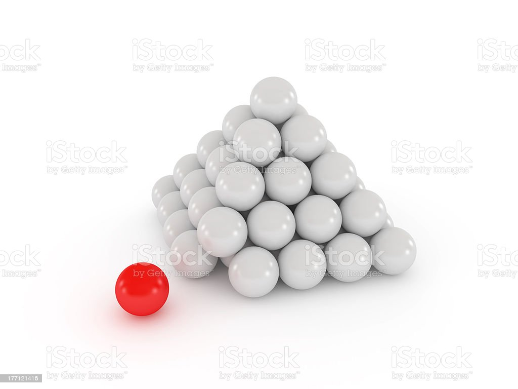 Pyramid with red ball royalty-free stock photo