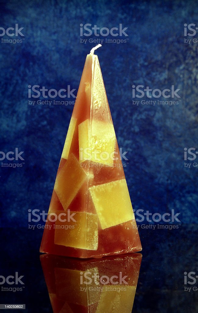 Pyramidal Candle stock photo