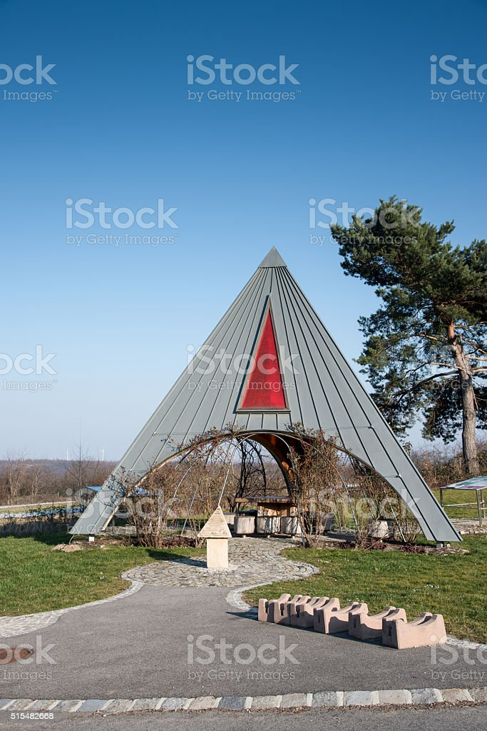 Pyramidal construction royalty-free stock photo