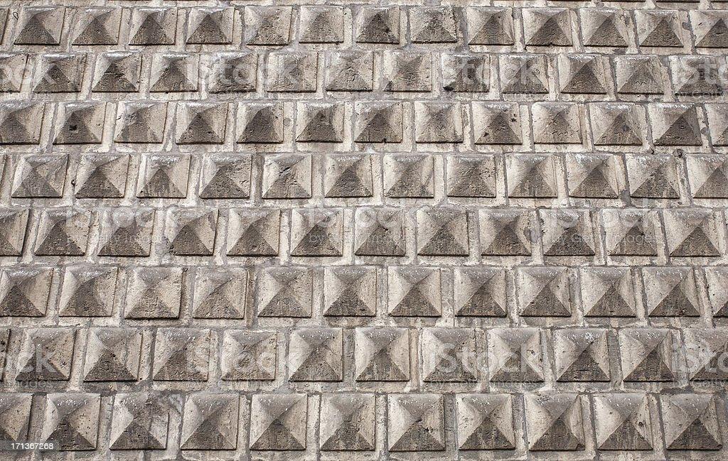 Pyramidal Wall Pattern stock photo