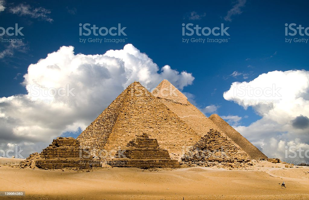 Pyramids and Clouds royalty-free stock photo