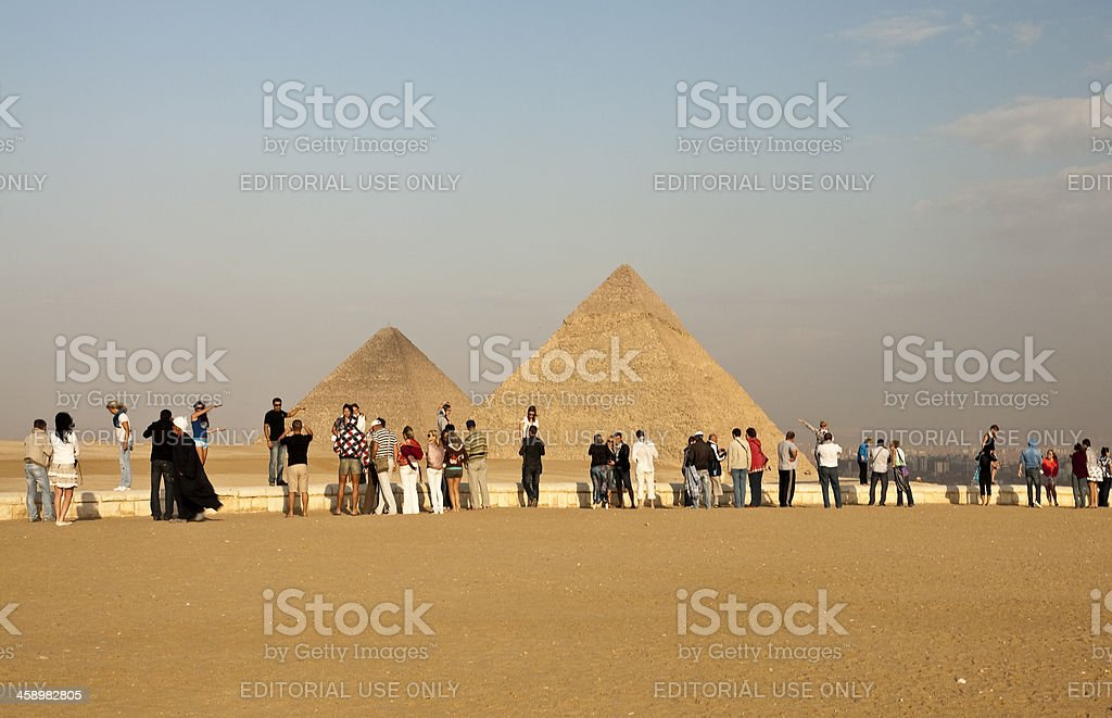 Pyramids and people royalty-free stock photo