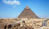 Pyramids and the Sphinx in Cairo