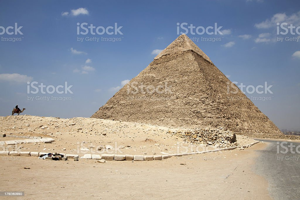Pyramids at Egypt royalty-free stock photo