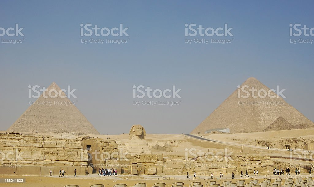 Pyramids at Giza, Egypt royalty-free stock photo