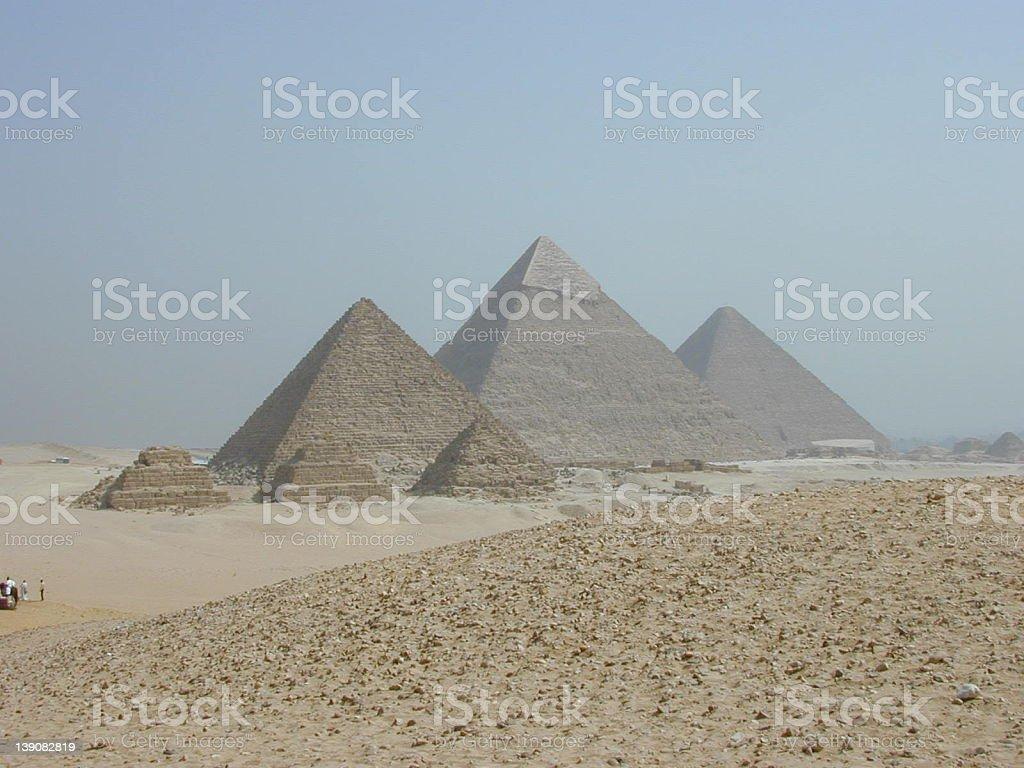 Pyramids at Giza royalty-free stock photo