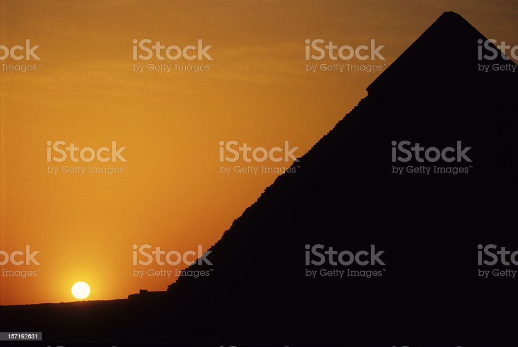 Pyramids at Sunset royalty-free stock photo