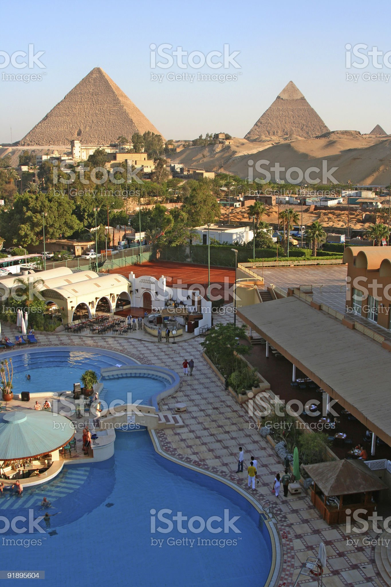 Pyramids by the Pool royalty-free stock photo