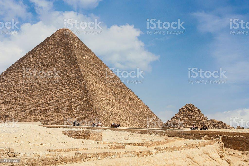 Pyramids Cheops Egypt stock photo