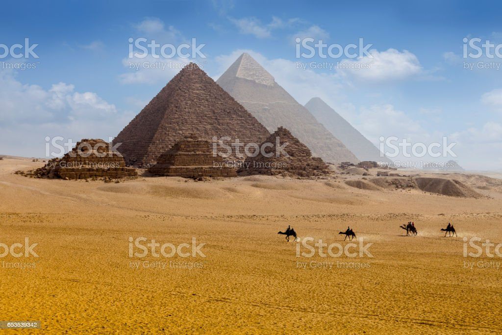 Pyramids egypt stock photo