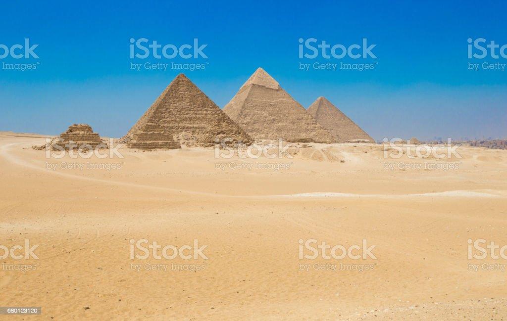 pyramids  Giza in Cairo, Egypt. stock photo