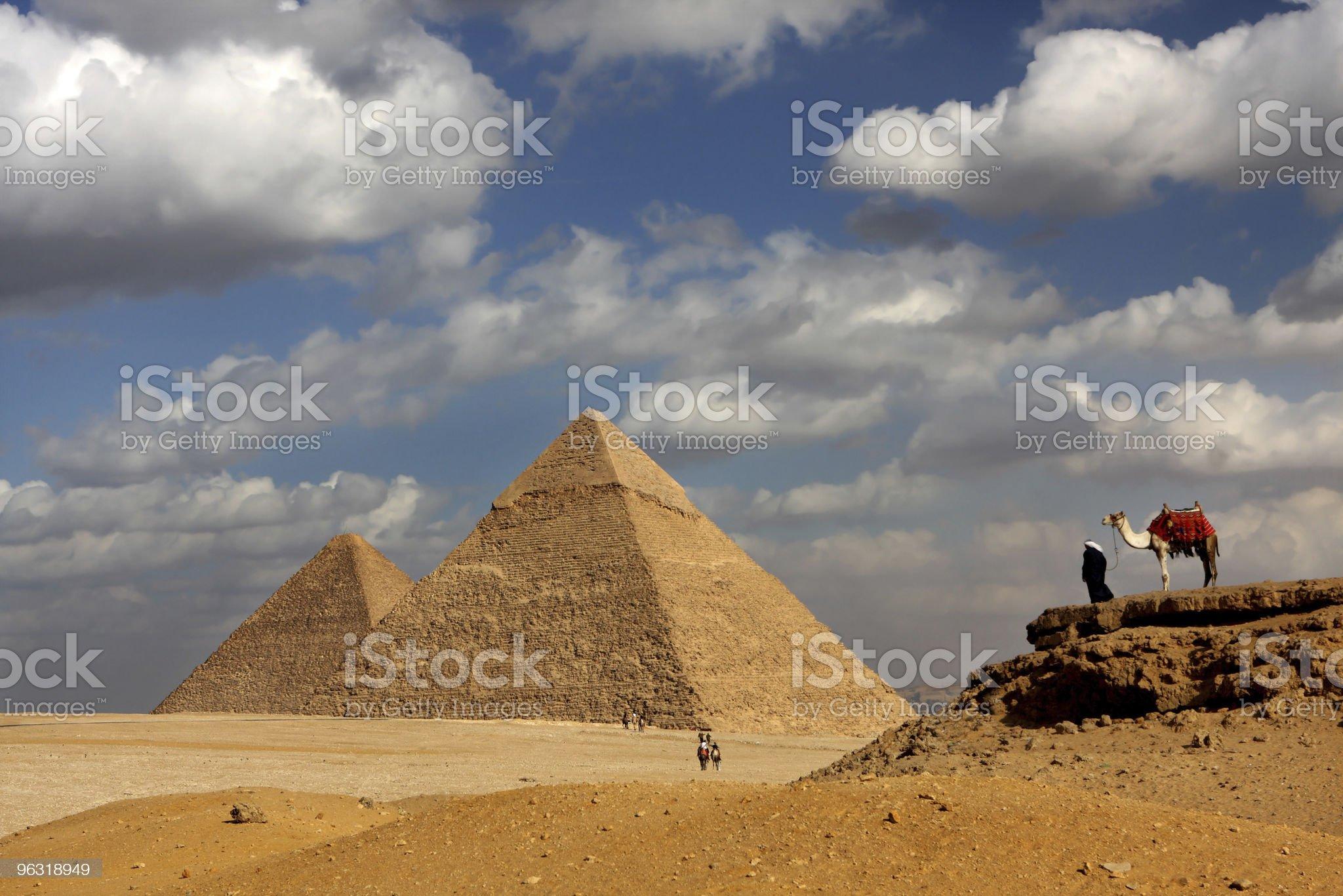 pyramids giza royalty-free stock photo