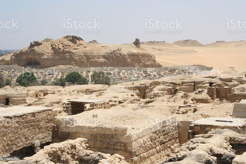 Pyramids graves stock photo
