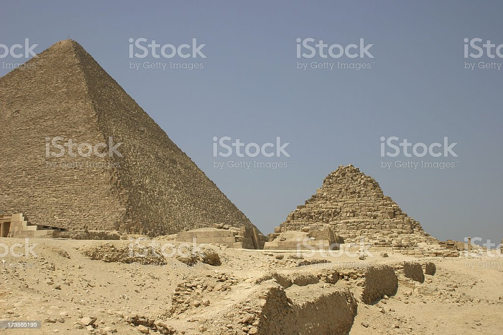 Pyramids in Cairo stock photo