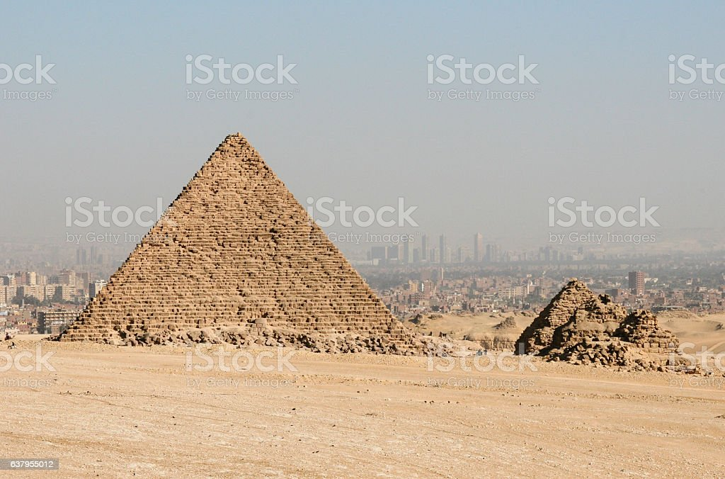 Pyramids in Cairo stock photo