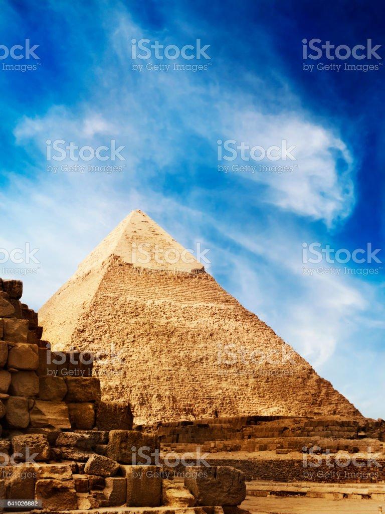 Pyramids in Egypt stock photo