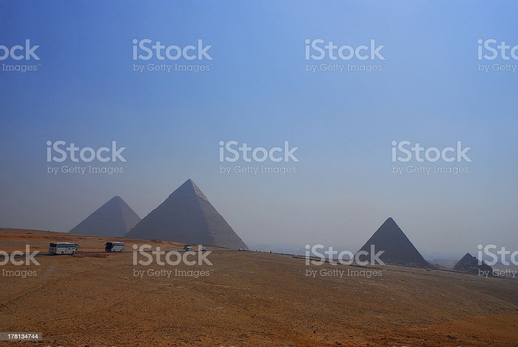 pyramids in giza and egypt royalty-free stock photo