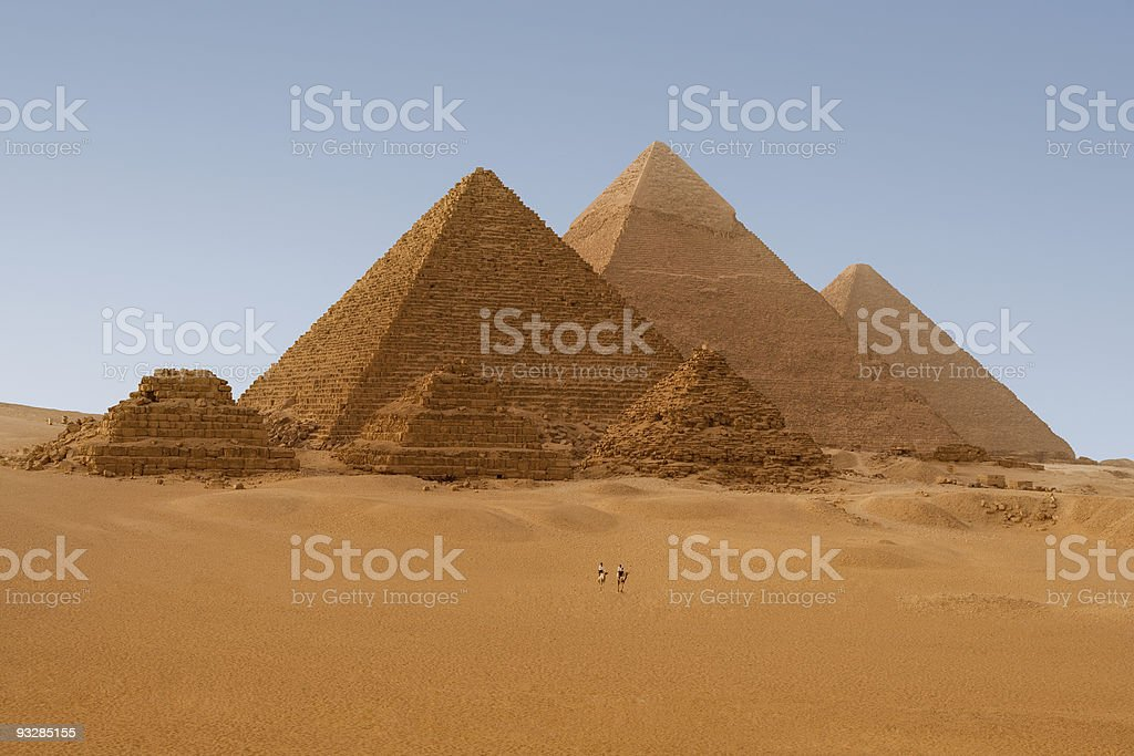 Pyramids in Giza, Egypt royalty-free stock photo