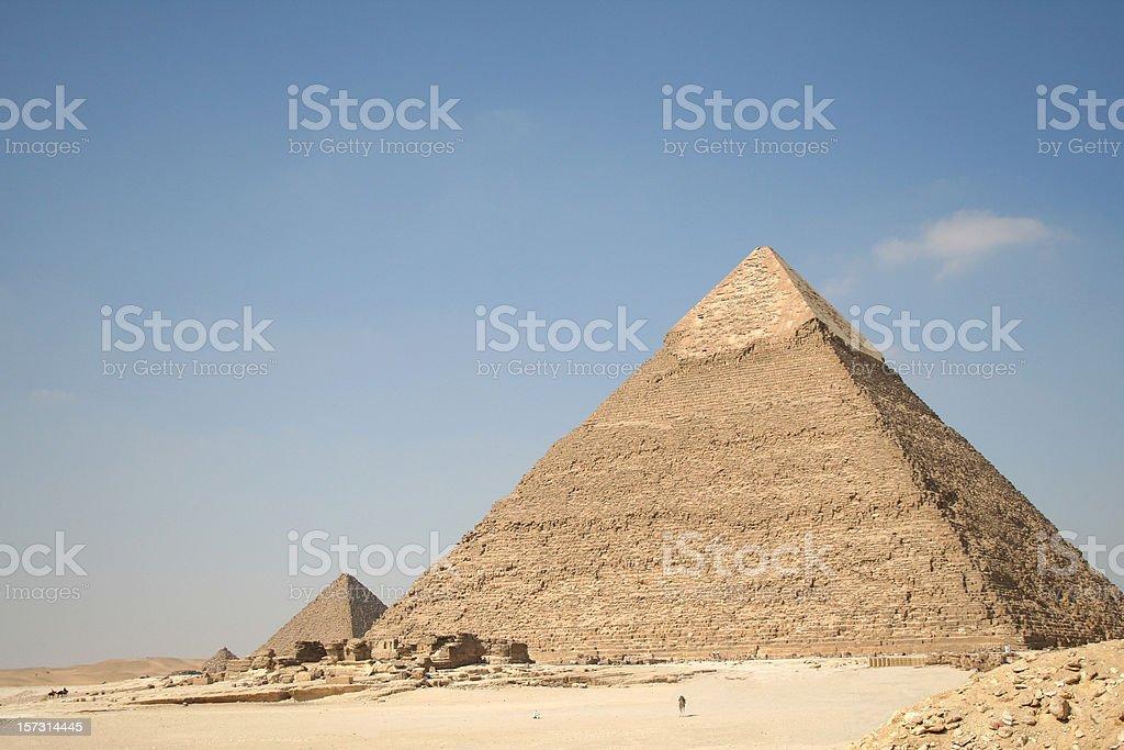 Pyramids in Giza royalty-free stock photo