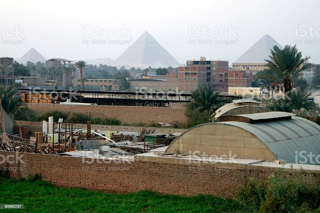 Pyramids in the distance royalty-free stock photo