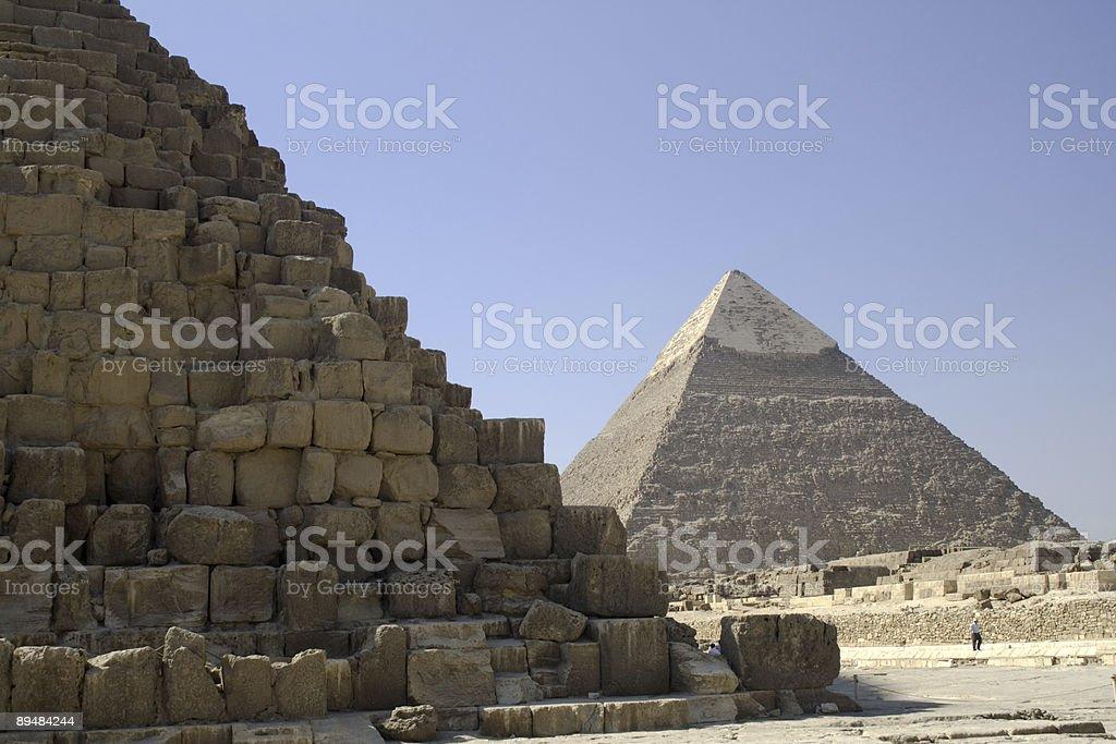 Pyramids, near and far. Giza, Egypt royalty-free stock photo