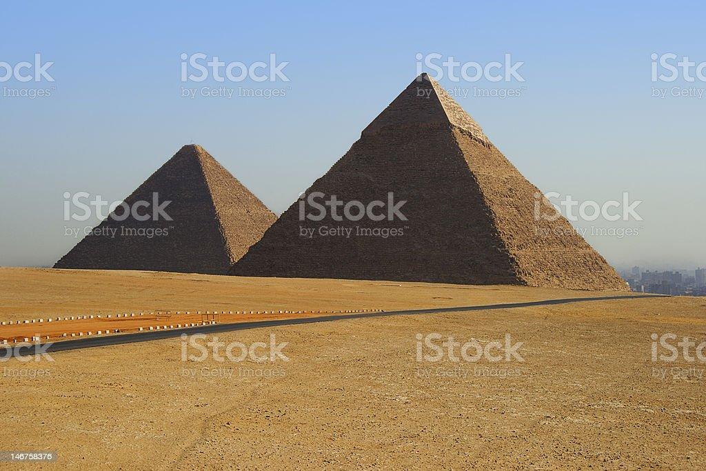Pyramids of Egypt stock photo