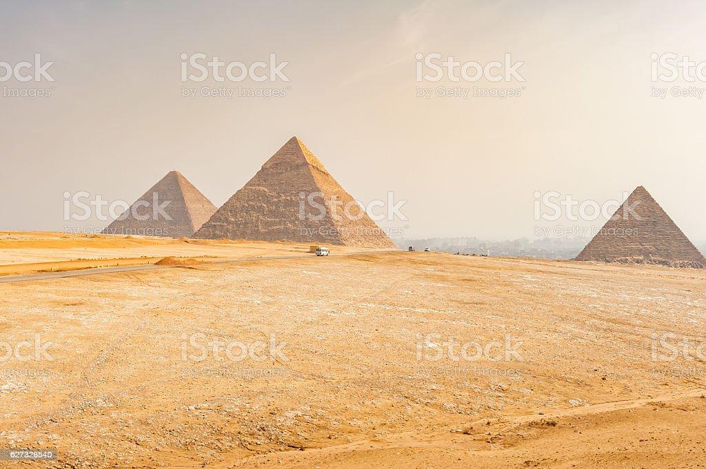 Pyramids of Giza, Cairo, Egypt stock photo
