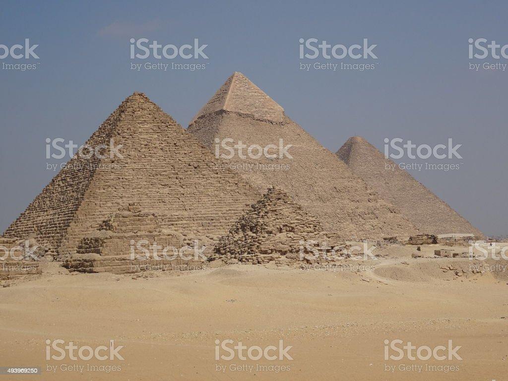 Pyramids of Giza, Egypt stock photo
