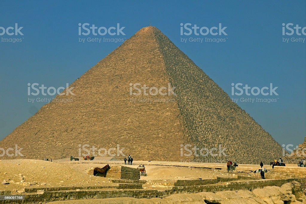 Pyramids of Giza, EGYPT. stock photo