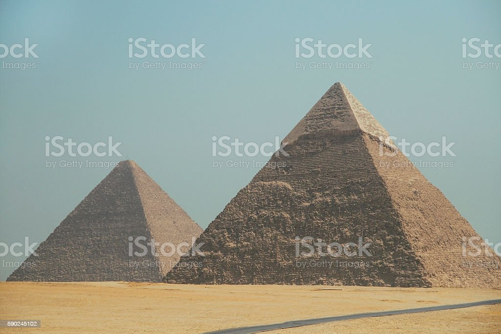 Pyramids of Giza. Egypt. September 2008 stock photo
