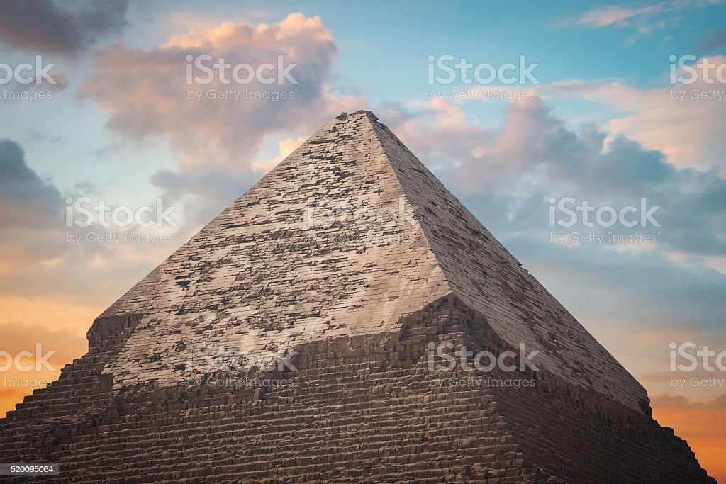 pyramids of Giza, in Egypt. stock photo