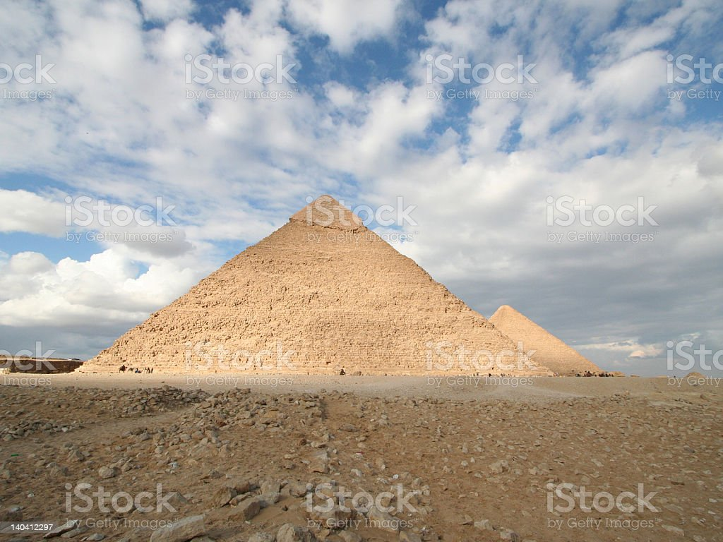 Pyramids of Giza royalty-free stock vector art