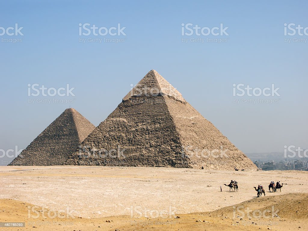 Pyramids of Giza royalty-free stock photo